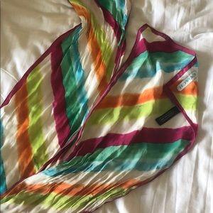 100% Silk Coach multicolor scarf